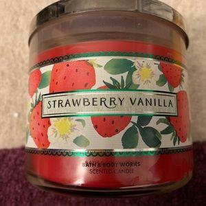 Bath & Body Works Strawberry Vanilla Candle